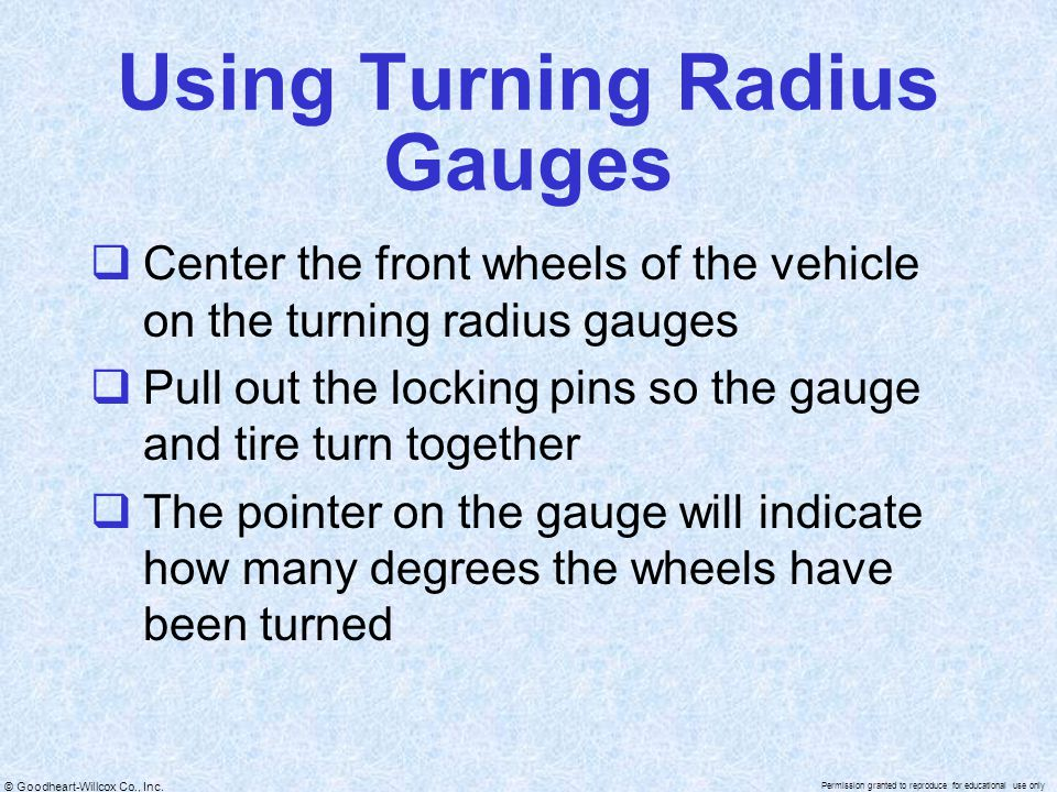 Using Turning Radius Gauges
