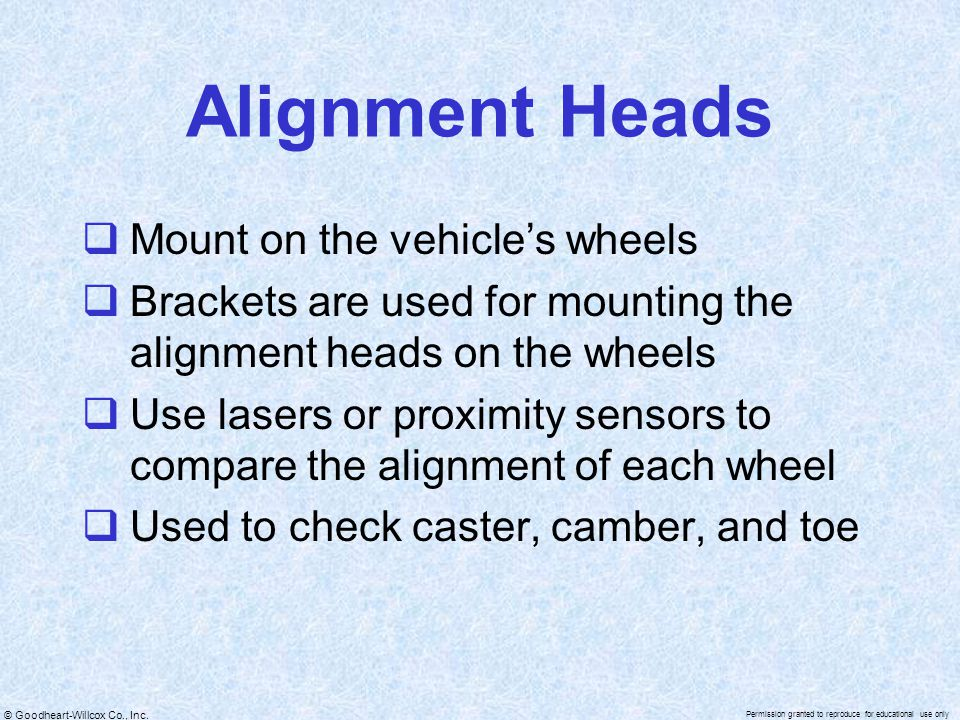 Alignment Heads Mount on the vehicle's wheels