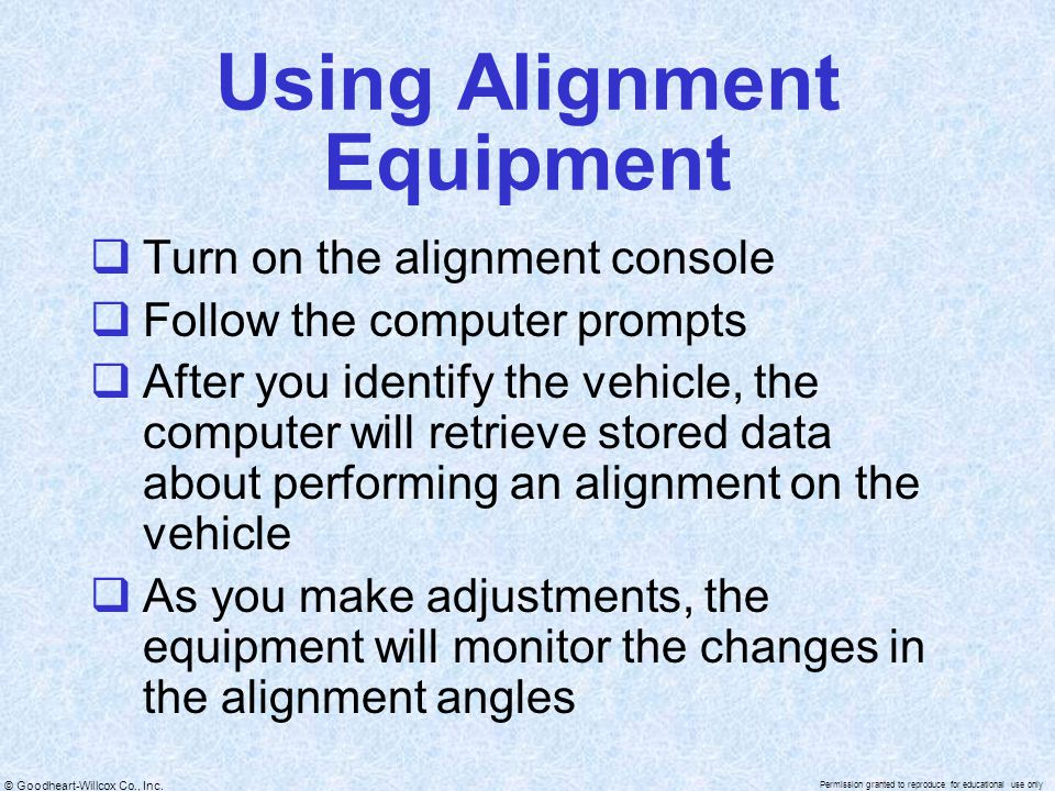 Using Alignment Equipment