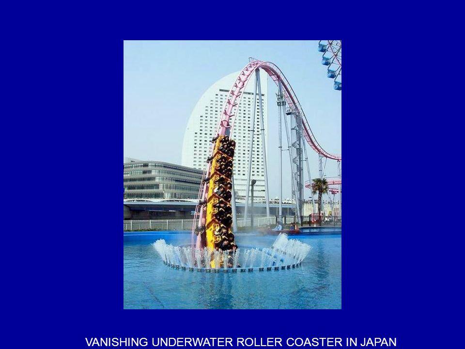 VANISHING UNDERWATER ROLLER COASTER IN JAPAN