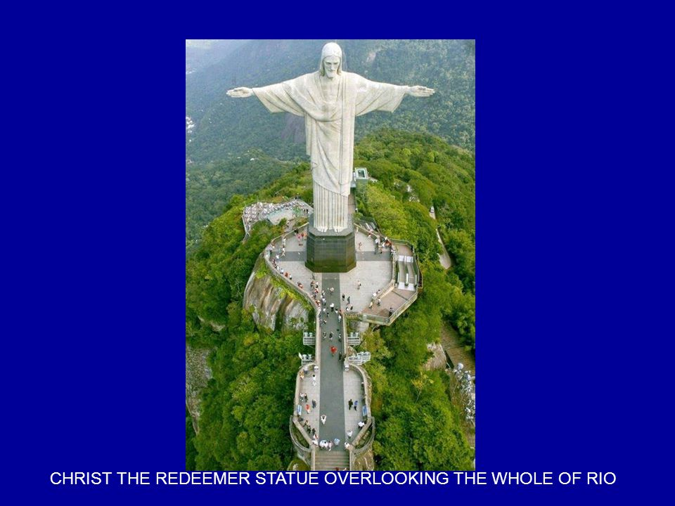 CHRIST THE REDEEMER STATUE OVERLOOKING THE WHOLE OF RIO