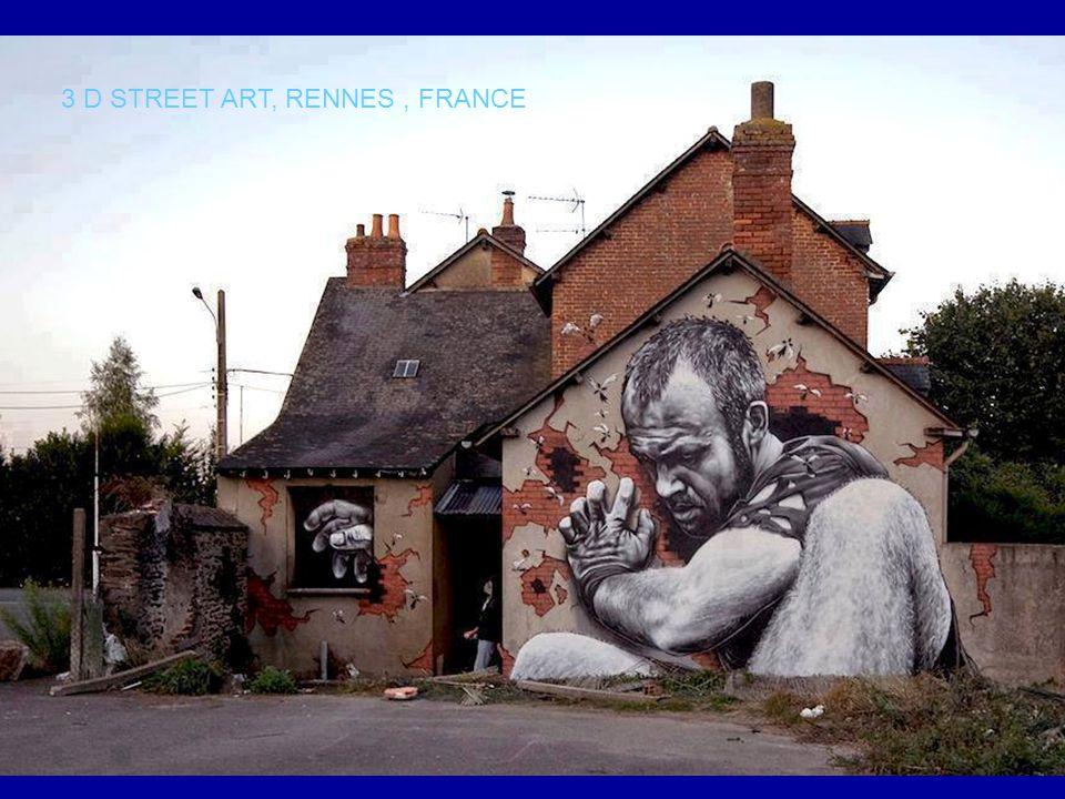 3 D STREET ART, RENNES , FRANCE
