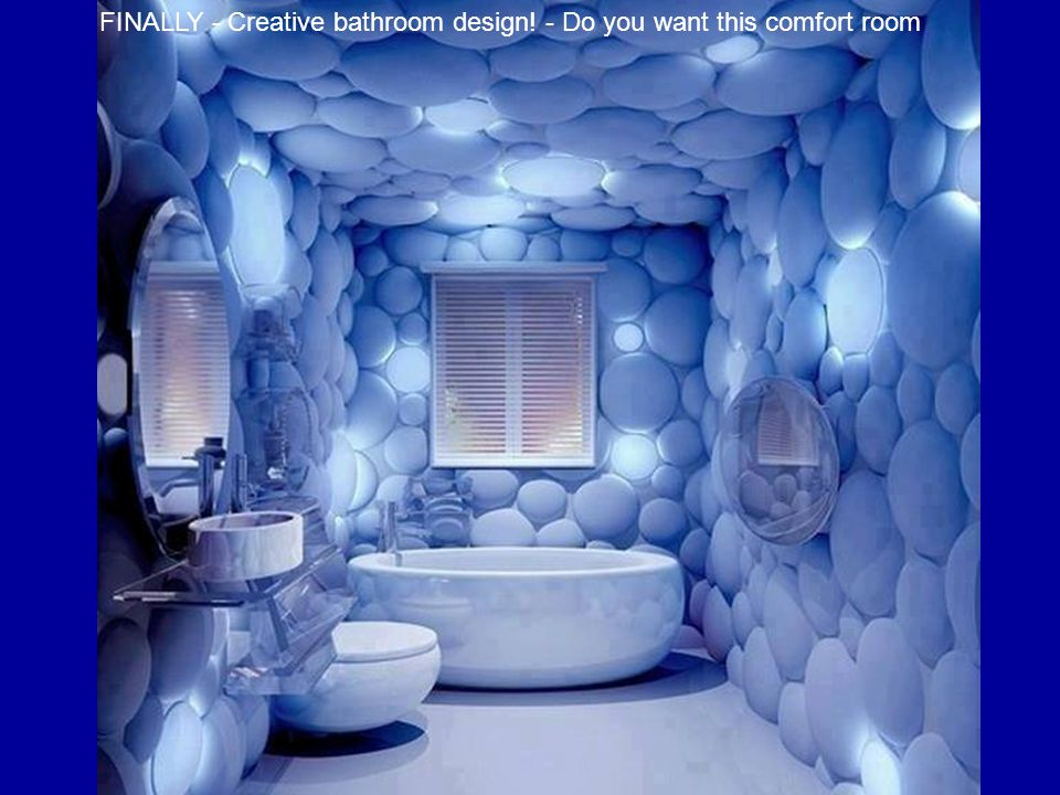 FINALLY - Creative bathroom design! - Do you want this comfort room