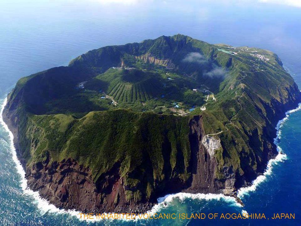 THE INHABITED VOLCANIC ISLAND OF AOGASHIMA , JAPAN