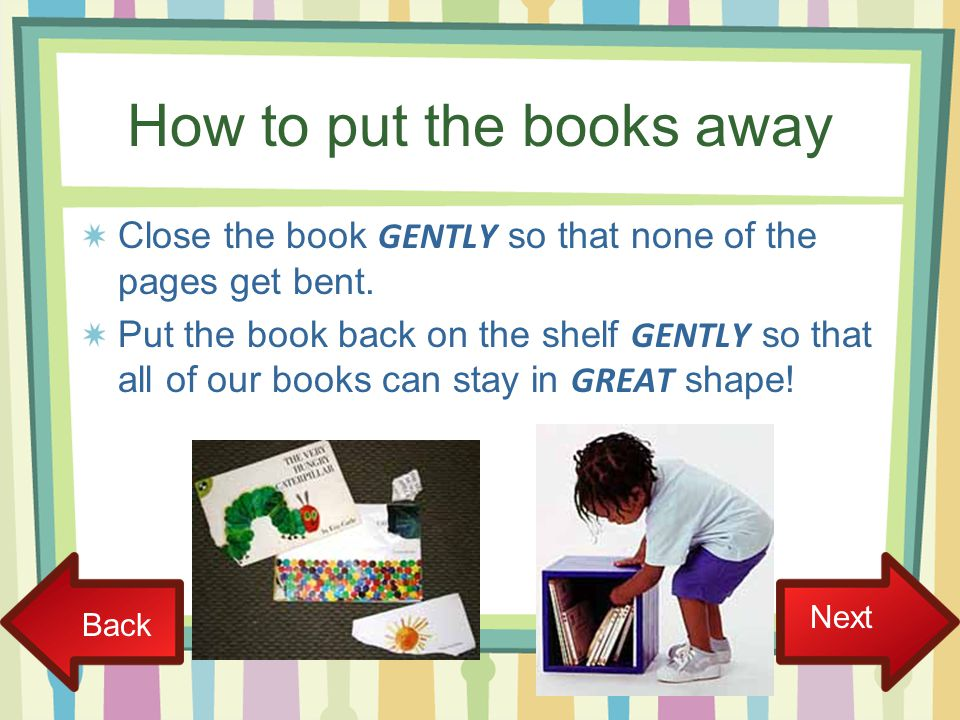 How to put the books away