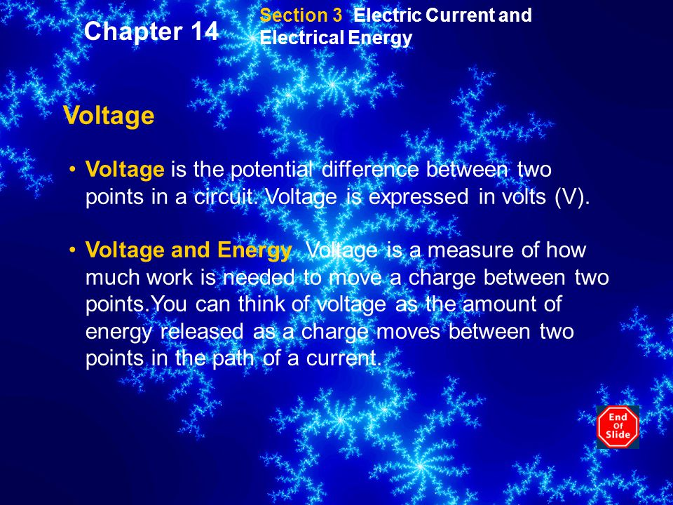 Section 3 Electric Current and Electrical Energy