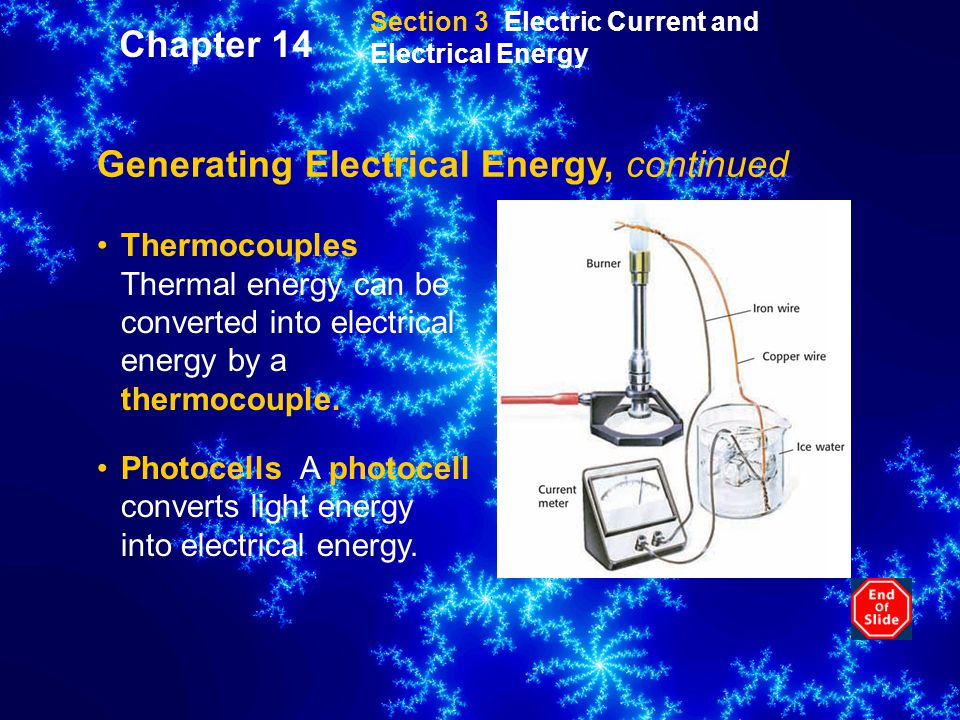 Generating Electrical Energy, continued