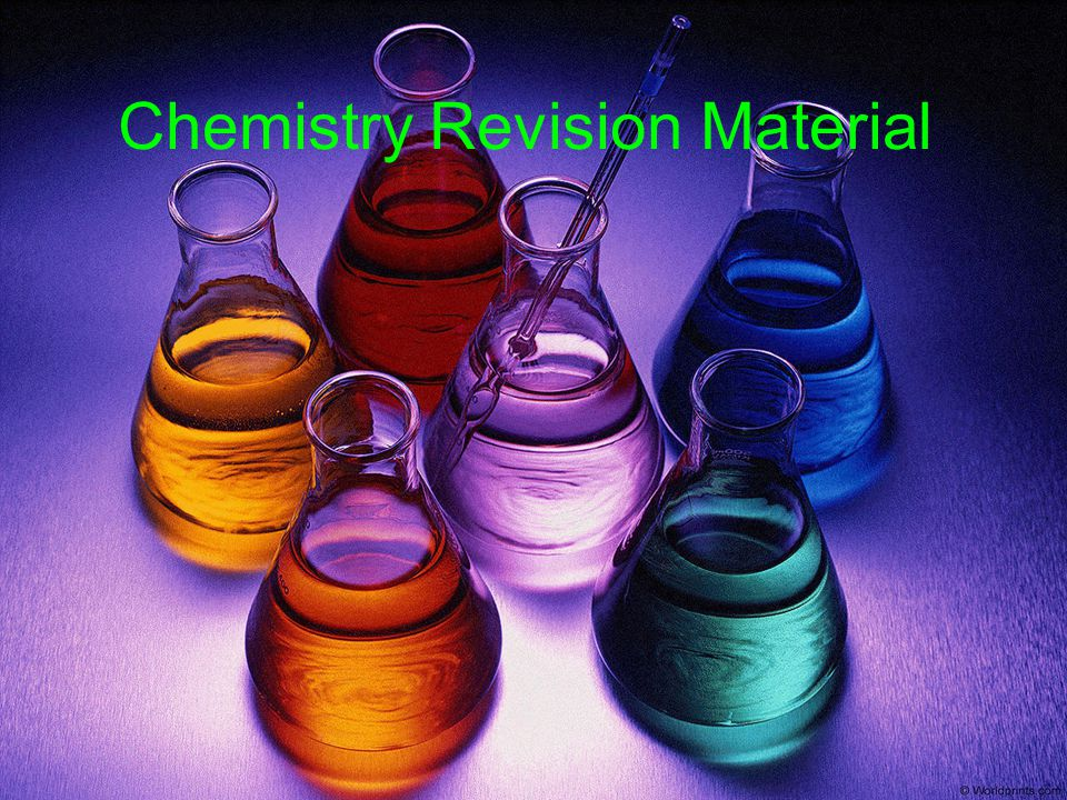 Chemistry Revision Material