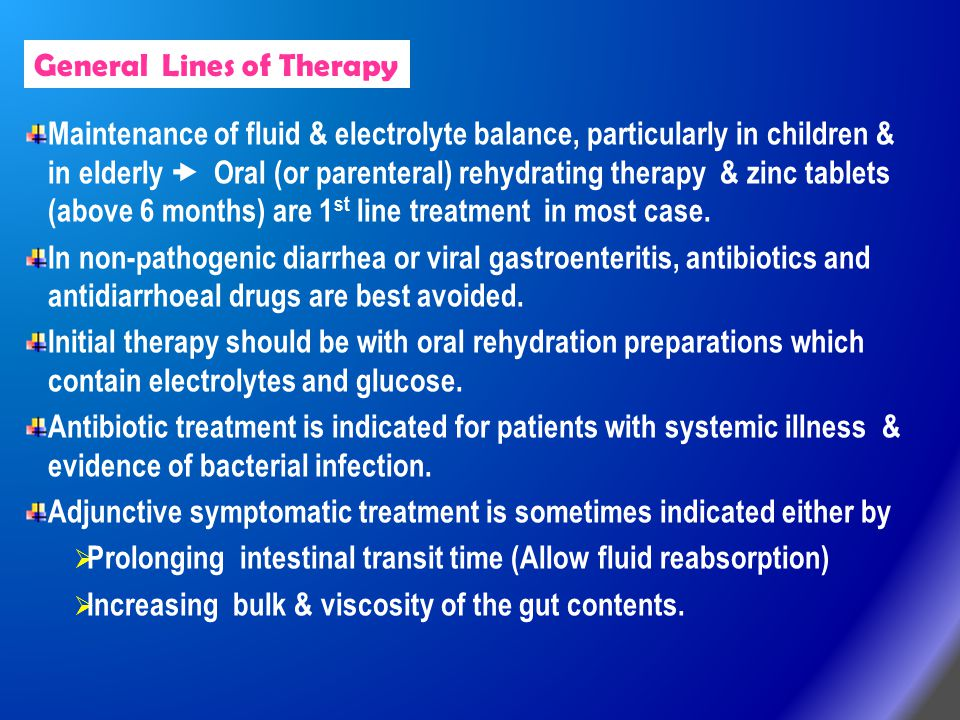General Lines of Therapy