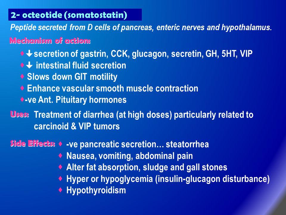 2- octeotide (somatostatin)
