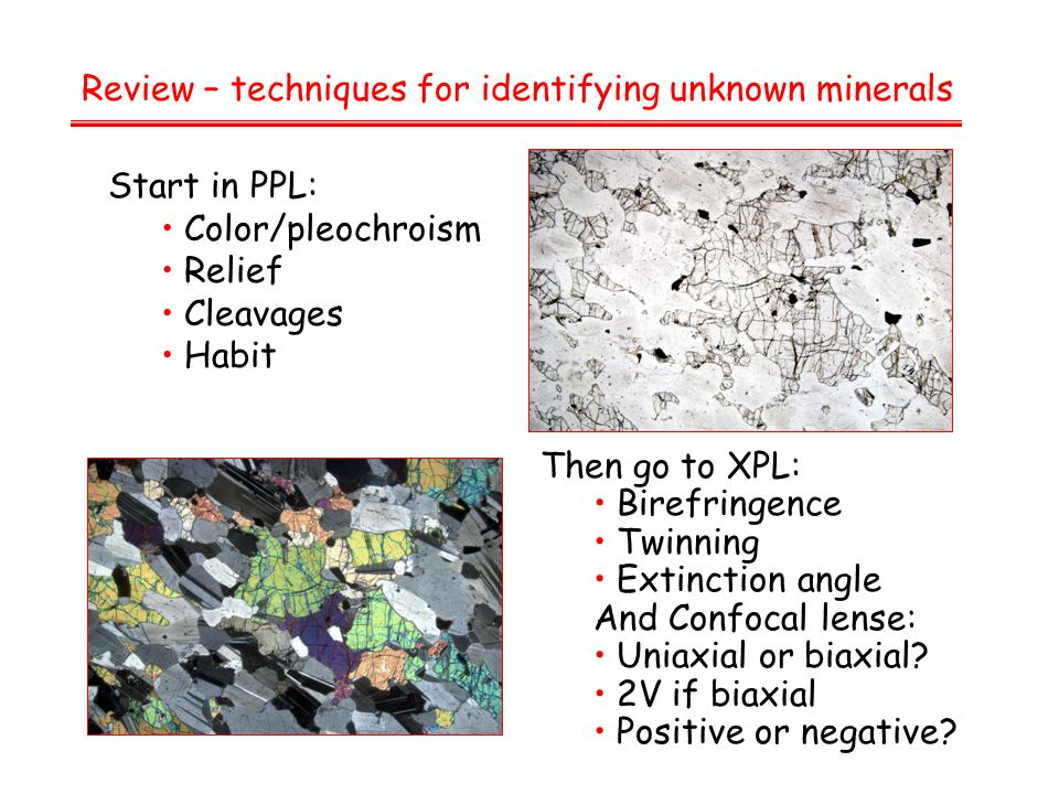 Review – techniques for identifying unknown minerals