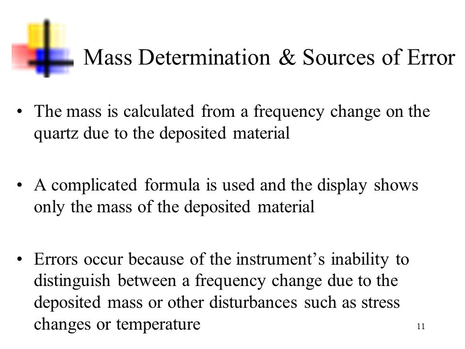 Mass Determination & Sources of Error