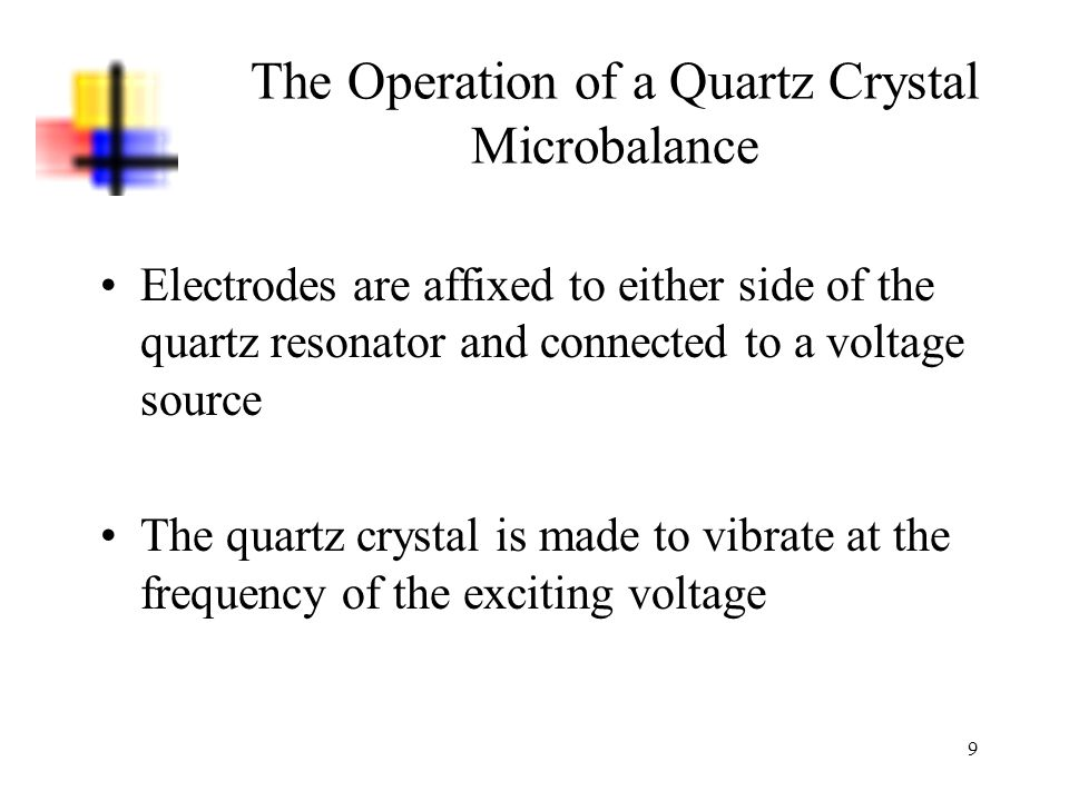 The Operation of a Quartz Crystal Microbalance