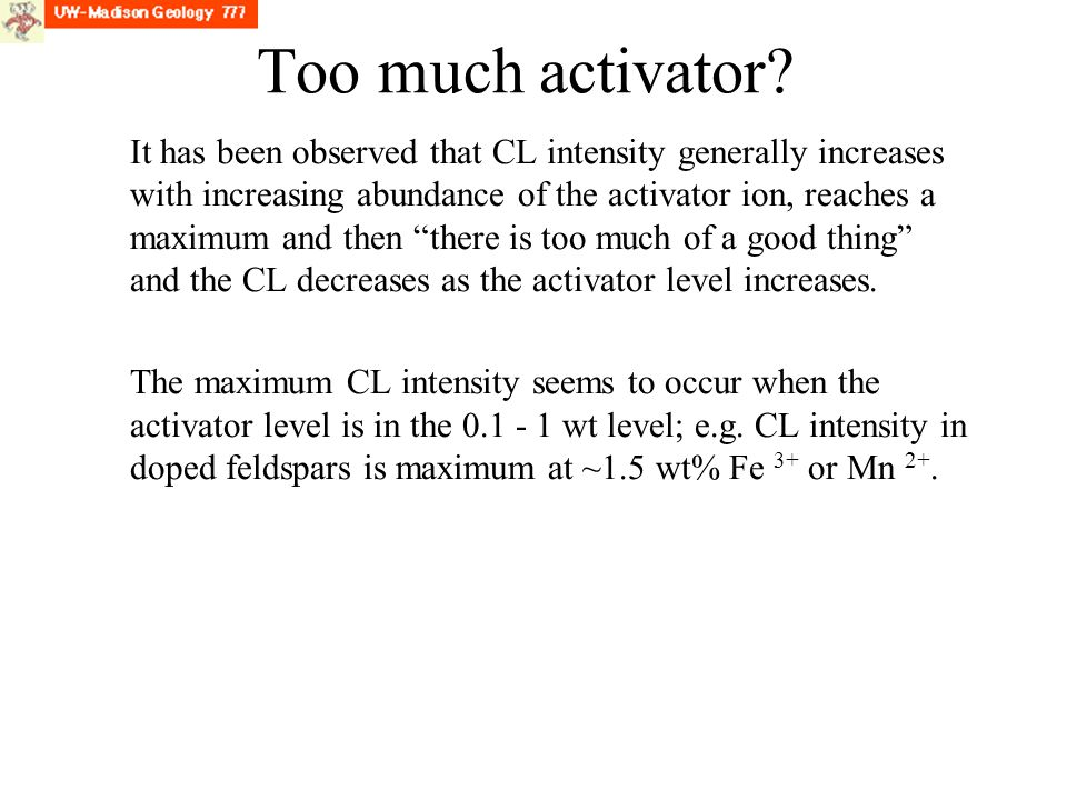 Too much activator