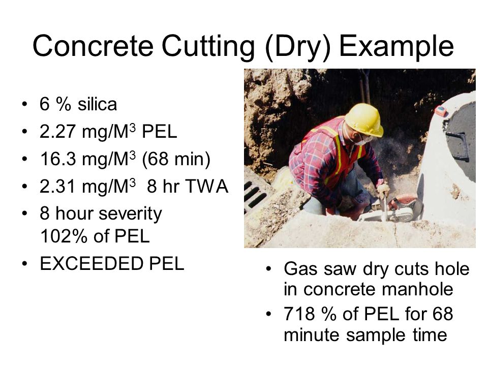 Concrete Cutting (Dry) Example