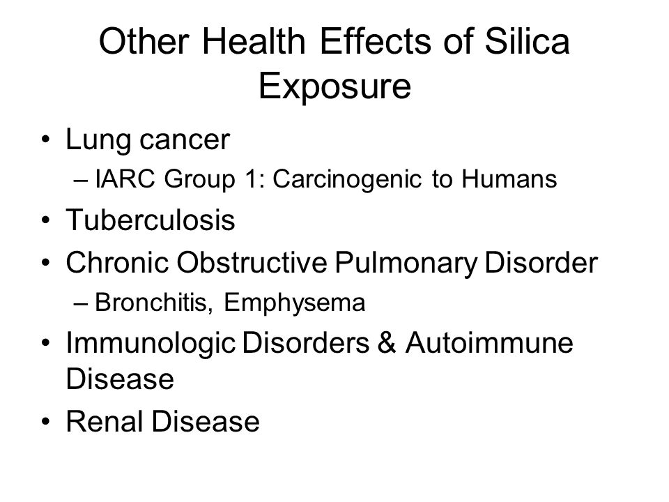 Other Health Effects of Silica Exposure