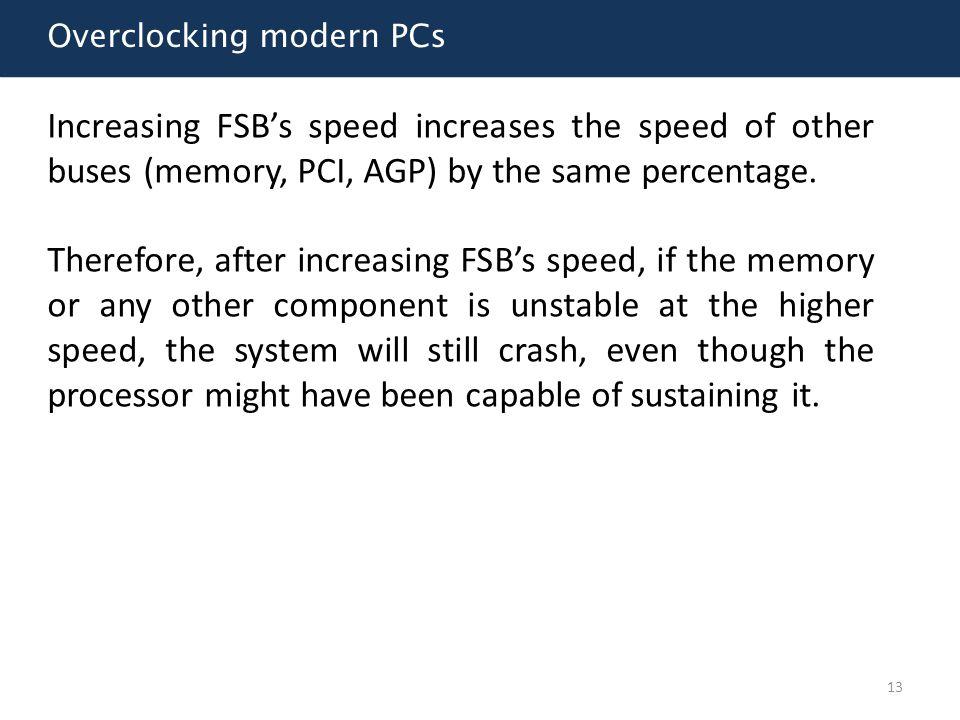 Overclocking modern PCs