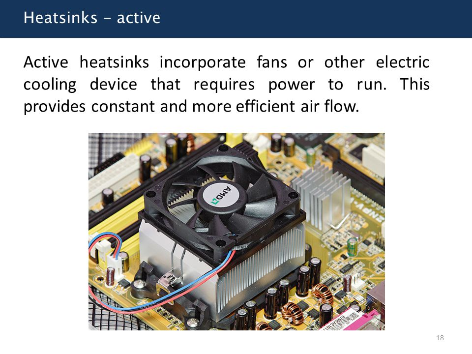 Heatsinks - active