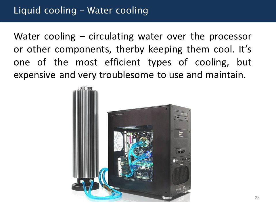 Liquid cooling – Water cooling