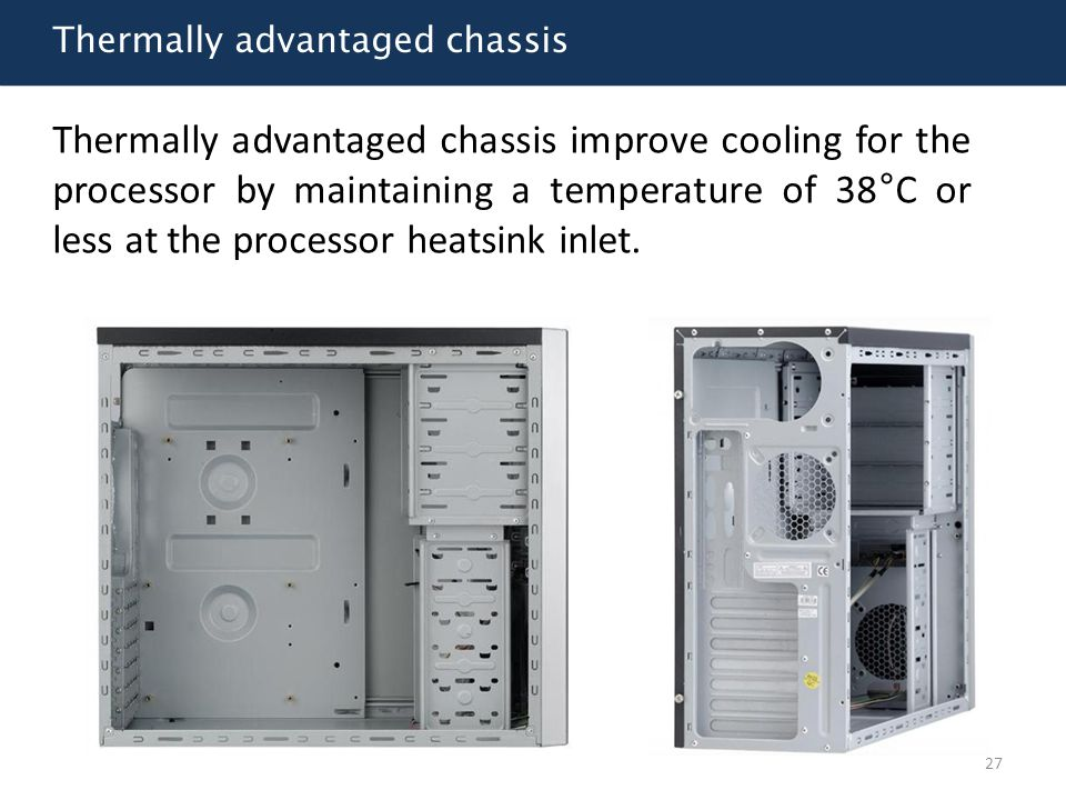 Thermally advantaged chassis