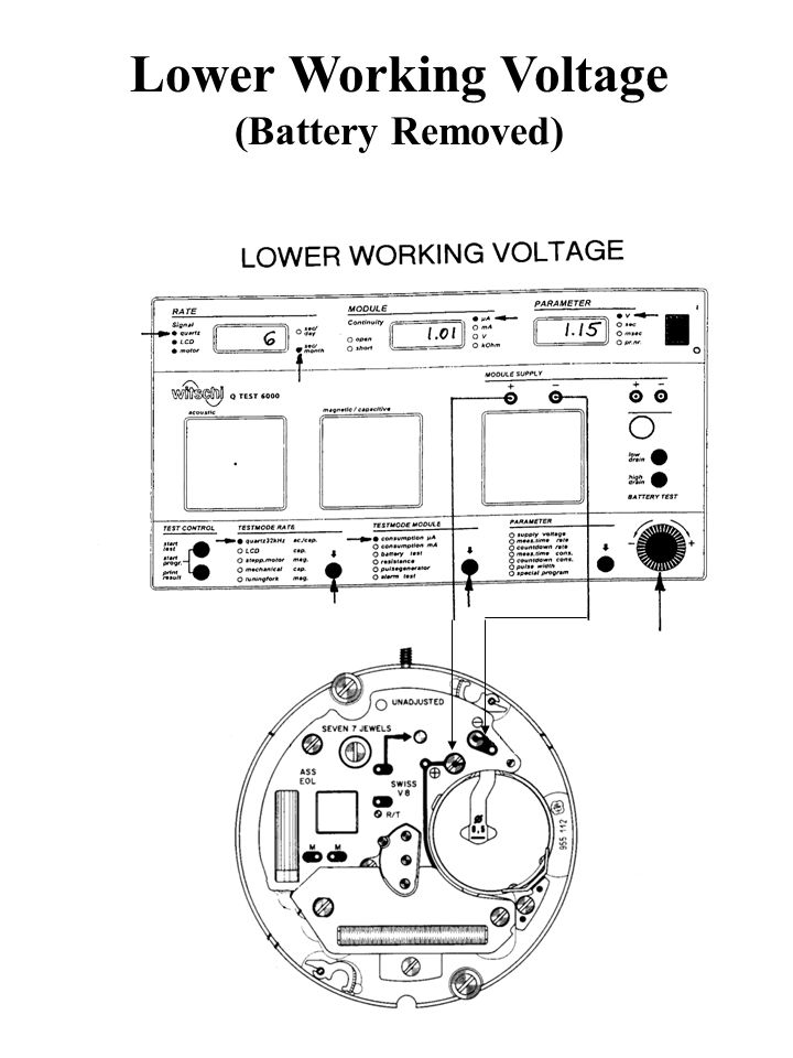 Lower Working Voltage (Battery Removed)