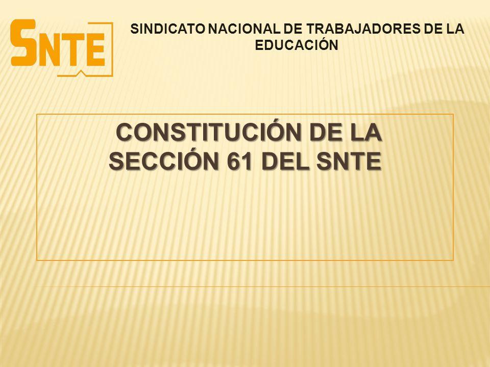 CONSTITUCIÓN DE LA SECCIÓN 61 del SNTE