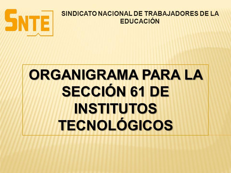 ORGANIGRAMA PARA LA SECCIÓN 61 DE INSTITUTOS TECNOLÓGICOS