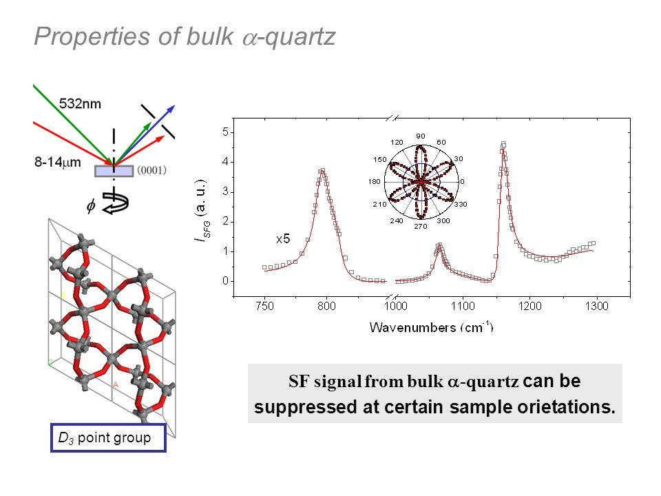 Properties of bulk a-quartz