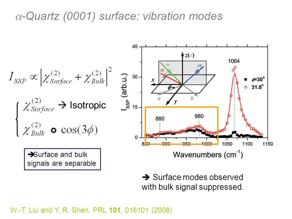 a-Quartz (0001) surface: vibration modes