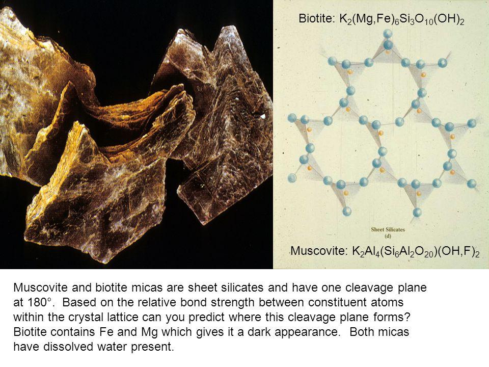 Biotite: K2(Mg,Fe)6Si3O10(OH)2