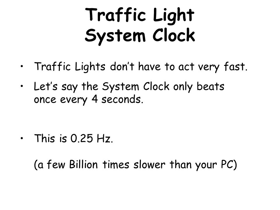 Traffic Light System Clock