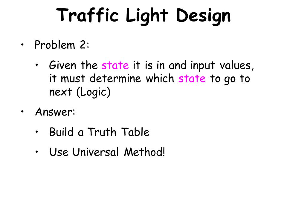 Traffic Light Design Problem 2: