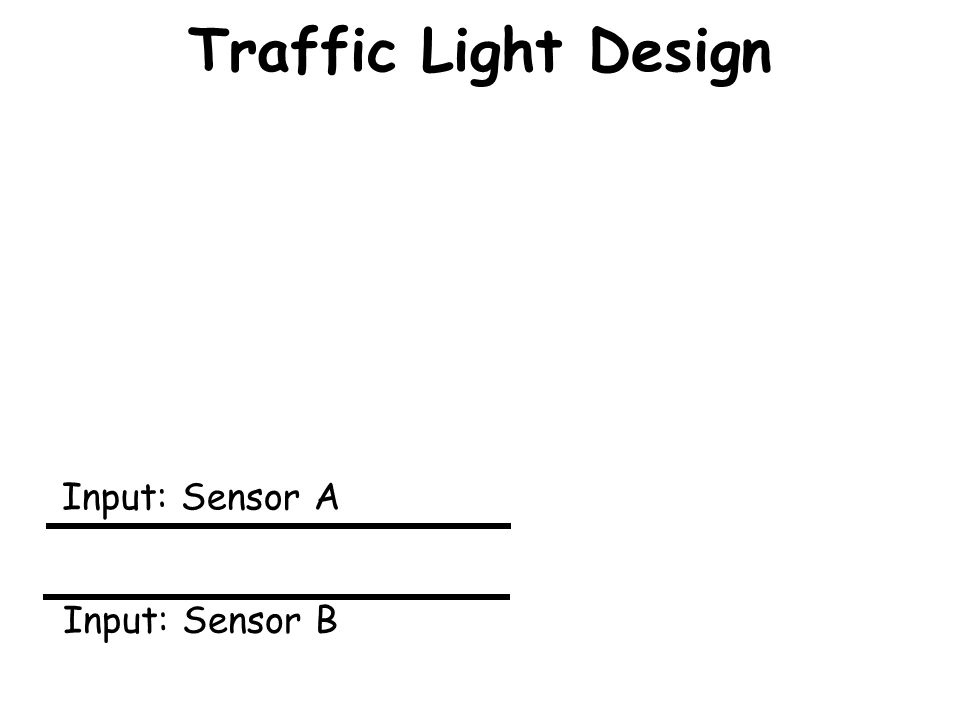 Traffic Light Design Input: Sensor A Input: Sensor B