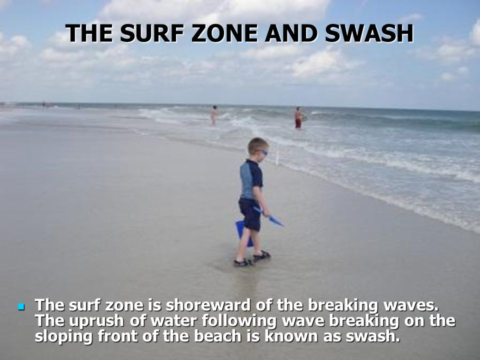 THE SURF ZONE AND SWASH