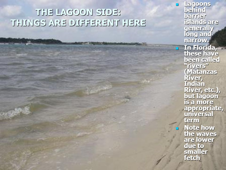 THE LAGOON SIDE: THINGS ARE DIFFERENT HERE