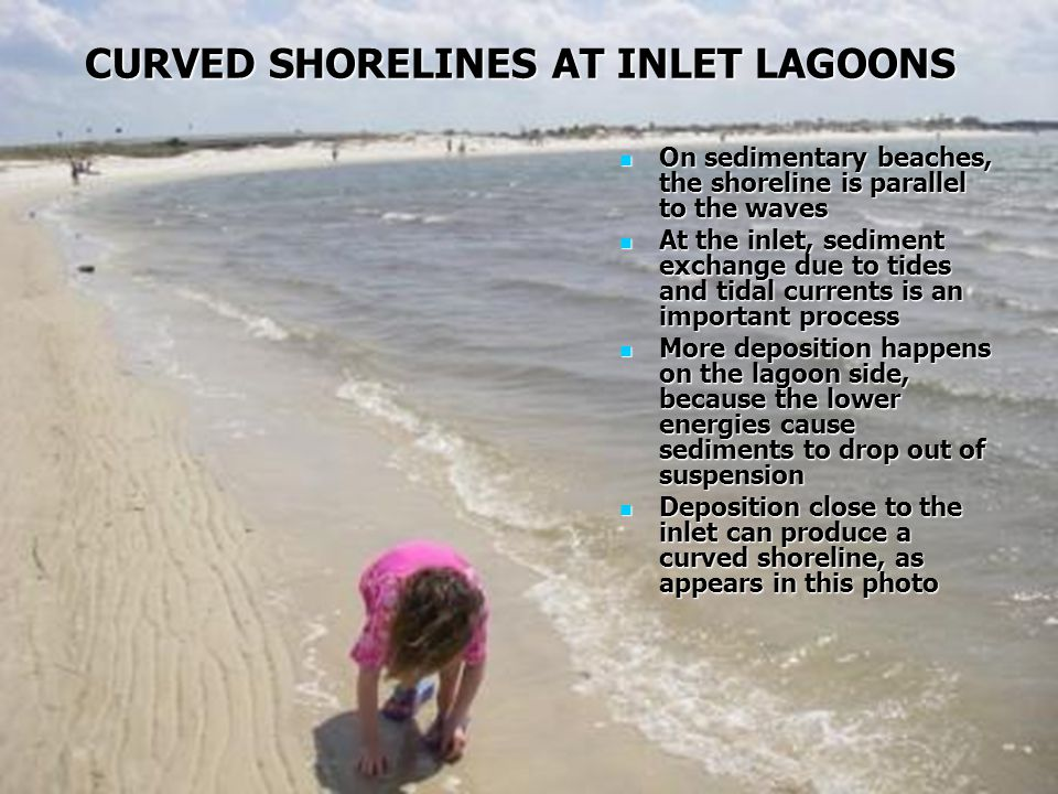 CURVED SHORELINES AT INLET LAGOONS