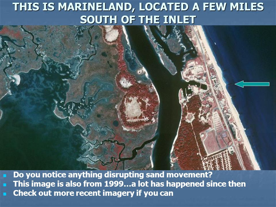THIS IS MARINELAND, LOCATED A FEW MILES SOUTH OF THE INLET