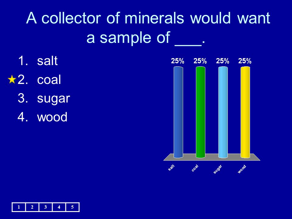 A collector of minerals would want a sample of ___.