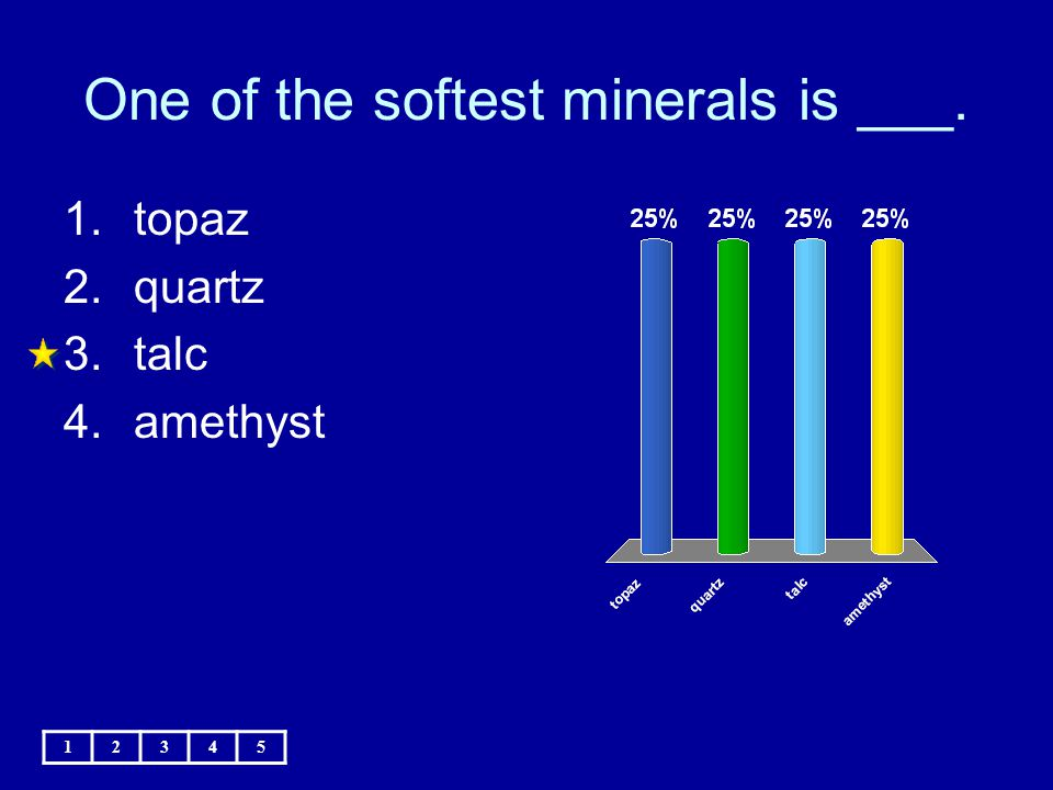One of the softest minerals is ___.