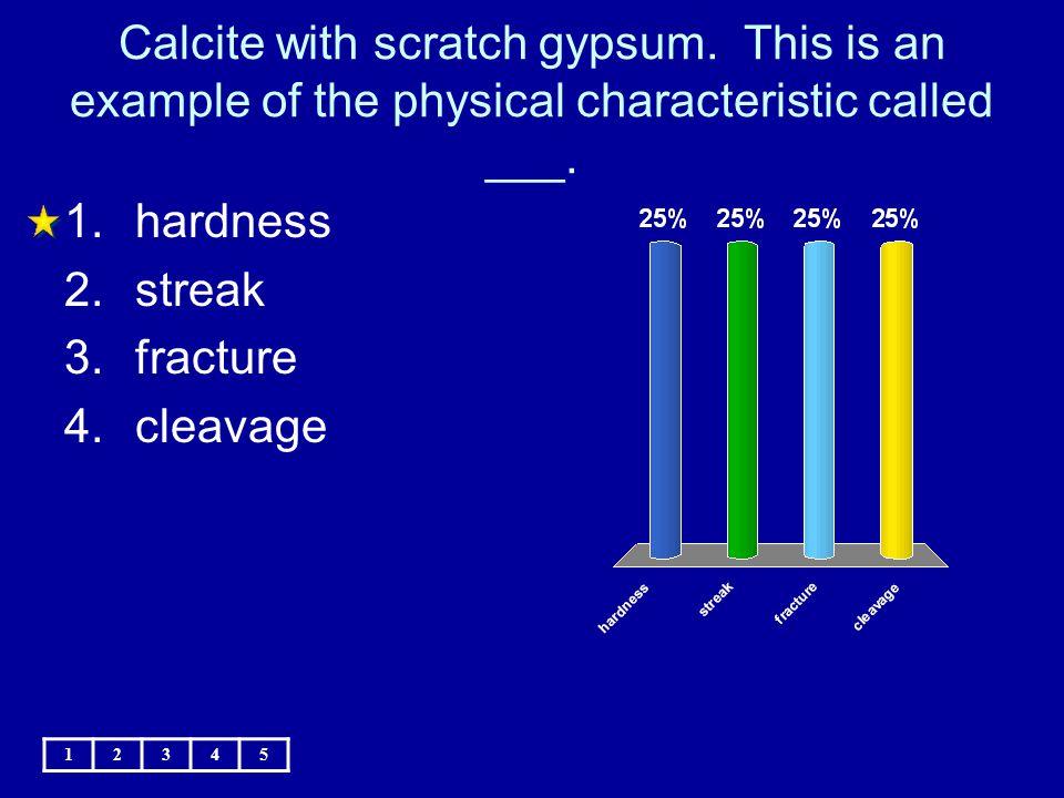 Calcite with scratch gypsum