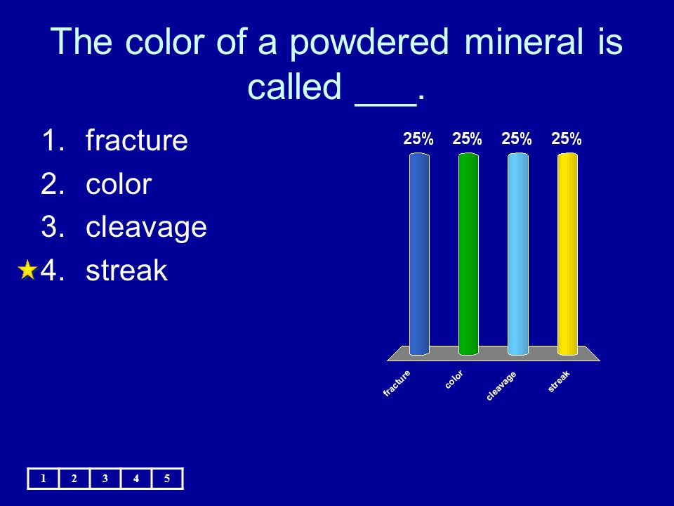 The color of a powdered mineral is called ___.