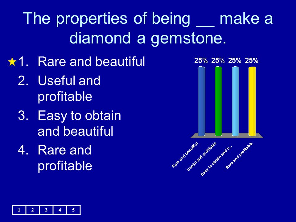 The properties of being __ make a diamond a gemstone.