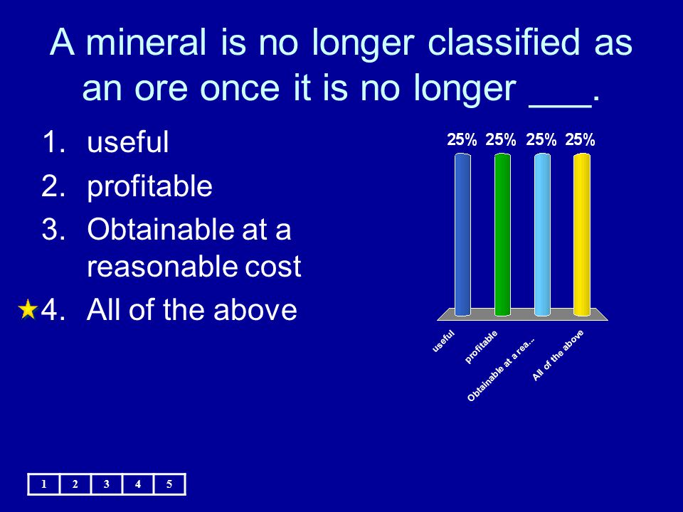 A mineral is no longer classified as an ore once it is no longer ___.