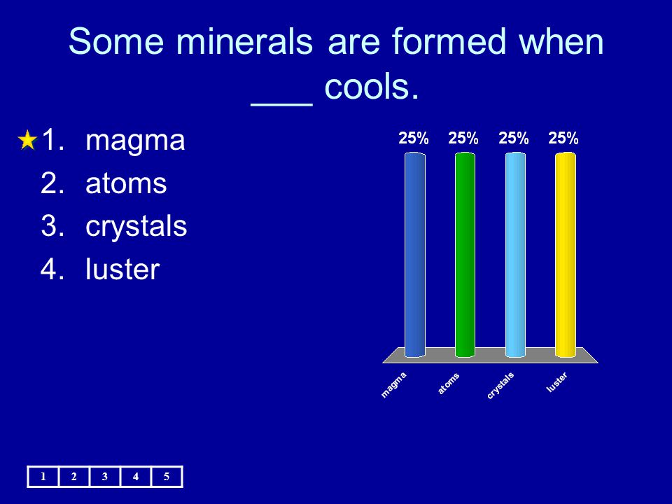 Some minerals are formed when ___ cools.