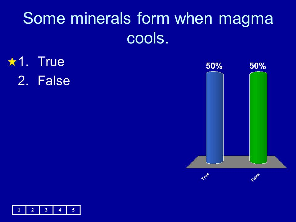 Some minerals form when magma cools.