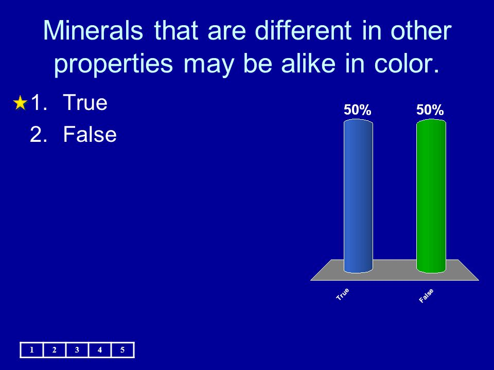 Minerals that are different in other properties may be alike in color.