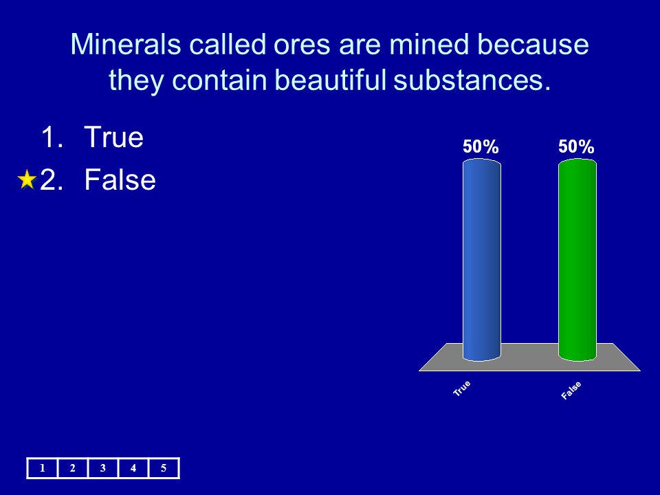 Minerals called ores are mined because they contain beautiful substances.