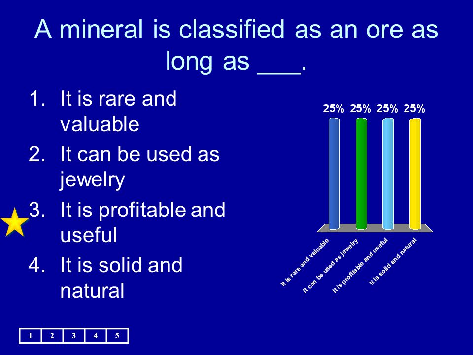 A mineral is classified as an ore as long as ___.