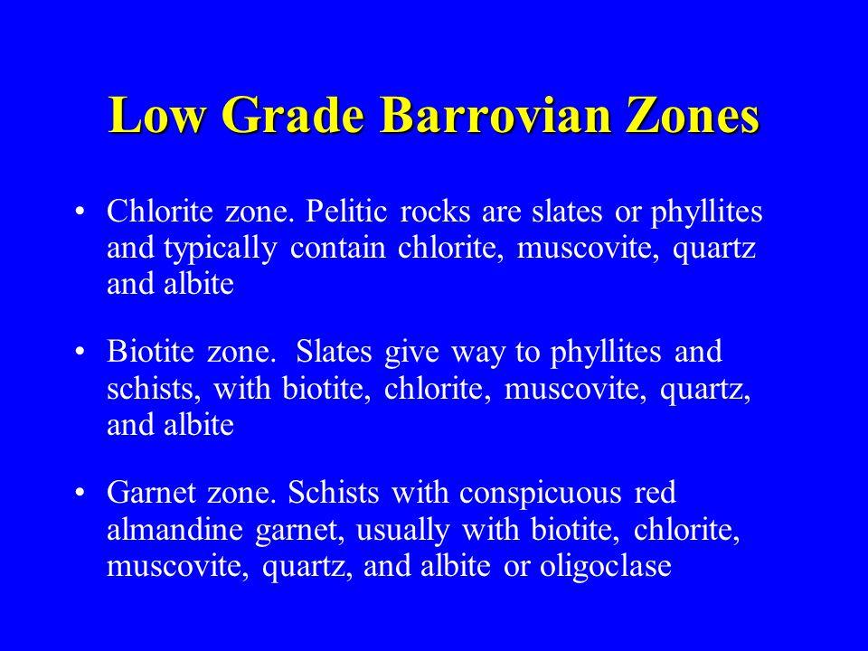 Low Grade Barrovian Zones