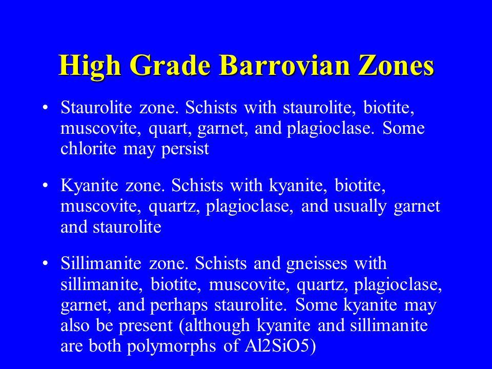 High Grade Barrovian Zones